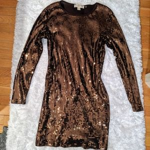 Beautiful Brown Michael Kors sequin dress